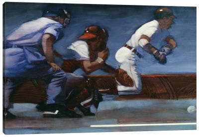 Baseball II Canvas Art Print