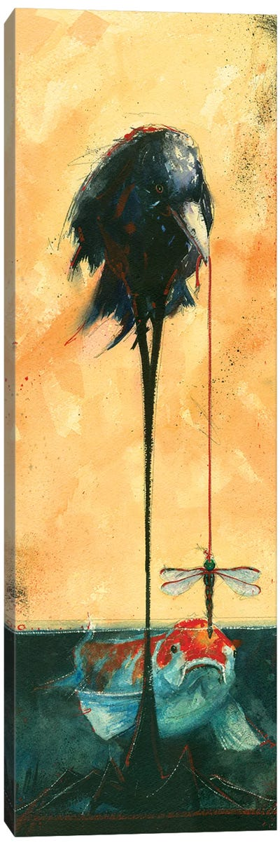 Gone Fishin Canvas Art Print