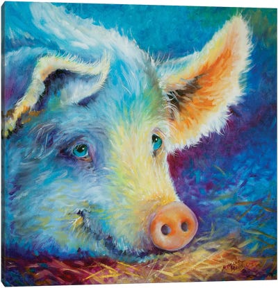 Baby Blues Piggy Canvas Art Print