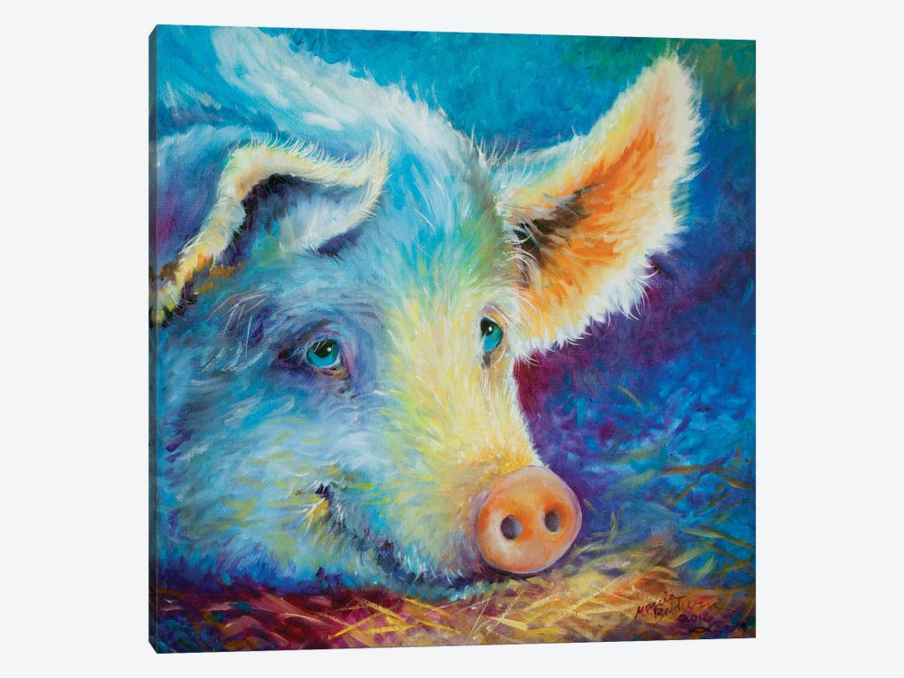 Baby Blues Piggy by Marcia Baldwin 1-piece Canvas Wall Art