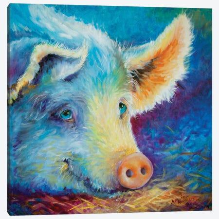 Baby Blues Piggy Canvas Print #BDN12} by Marcia Baldwin Canvas Art Print