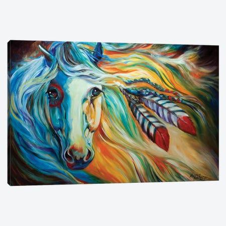 Breaking Dawn Indian War Horse Canvas Print #BDN17} by Marcia Baldwin Canvas Wall Art