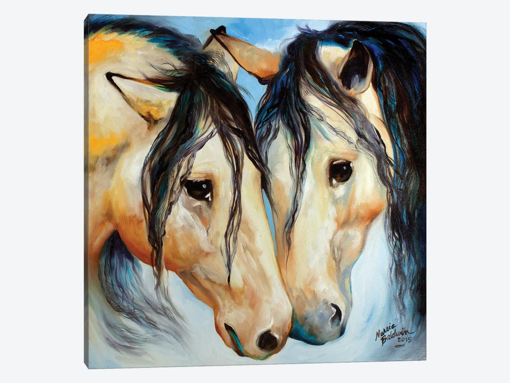 Buckskin Friends by Marcia Baldwin 1-piece Canvas Art Print
