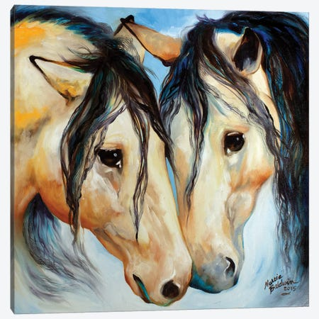 Buckskin Friends Canvas Print #BDN19} by Marcia Baldwin Canvas Art Print