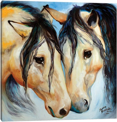 Buckskin Friends Canvas Art Print