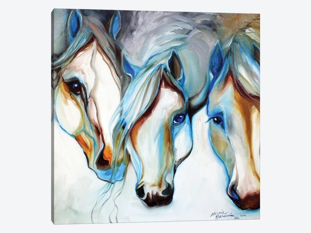 3 Nobles Equine Abstract by Marcia Baldwin 1-piece Canvas Print