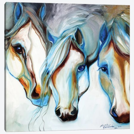 3 Nobles Equine Abstract Canvas Print #BDN1} by Marcia Baldwin Canvas Art
