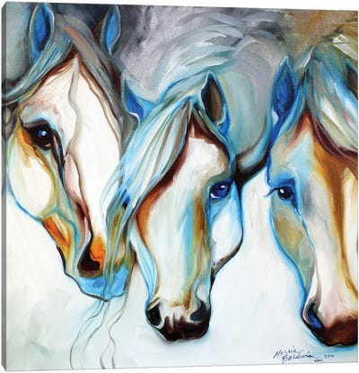 3 Nobles Equine Abstract by Marcia Baldwin Canvas Art Print