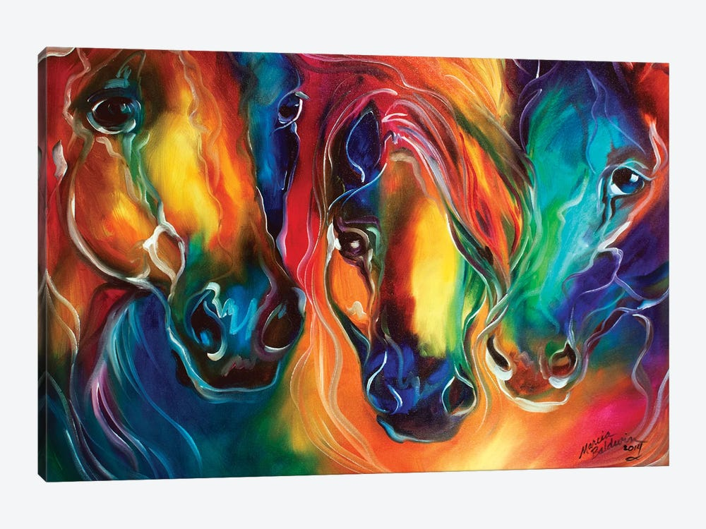 Color My World With Horses by Marcia Baldwin 1-piece Canvas Print