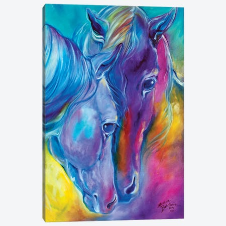 Color My World With Horses Loving Spirits Canvas Print #BDN21} by Marcia Baldwin Canvas Wall Art