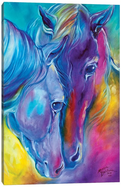 Color My World With Horses Loving Spirits by Marcia Baldwin Canvas Art Print