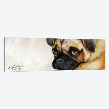 Cutie Pie Pug Canvas Print #BDN22} by Marcia Baldwin Canvas Artwork