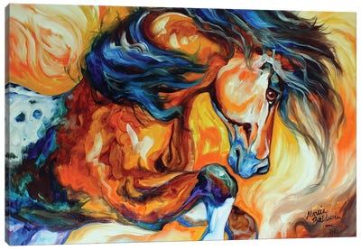 Dance Of The Wild One by Marcia Baldwin Canvas Art Print