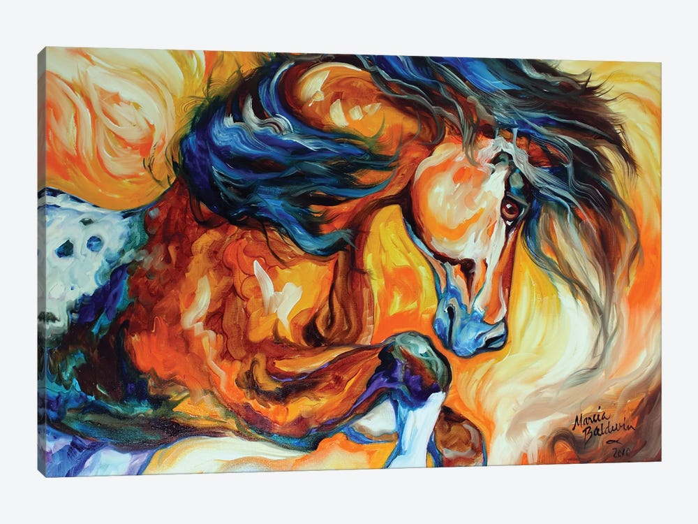 Dance Of The Wild One by Marcia Baldwin 1-piece Art Print