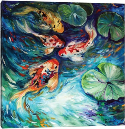 Dancing Colors Koi Canvas Art Print