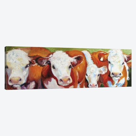 Fab Five Cows Canvas Print #BDN27} by Marcia Baldwin Canvas Print