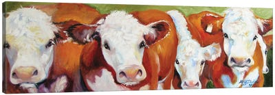 Fab Five Cows Canvas Art Print