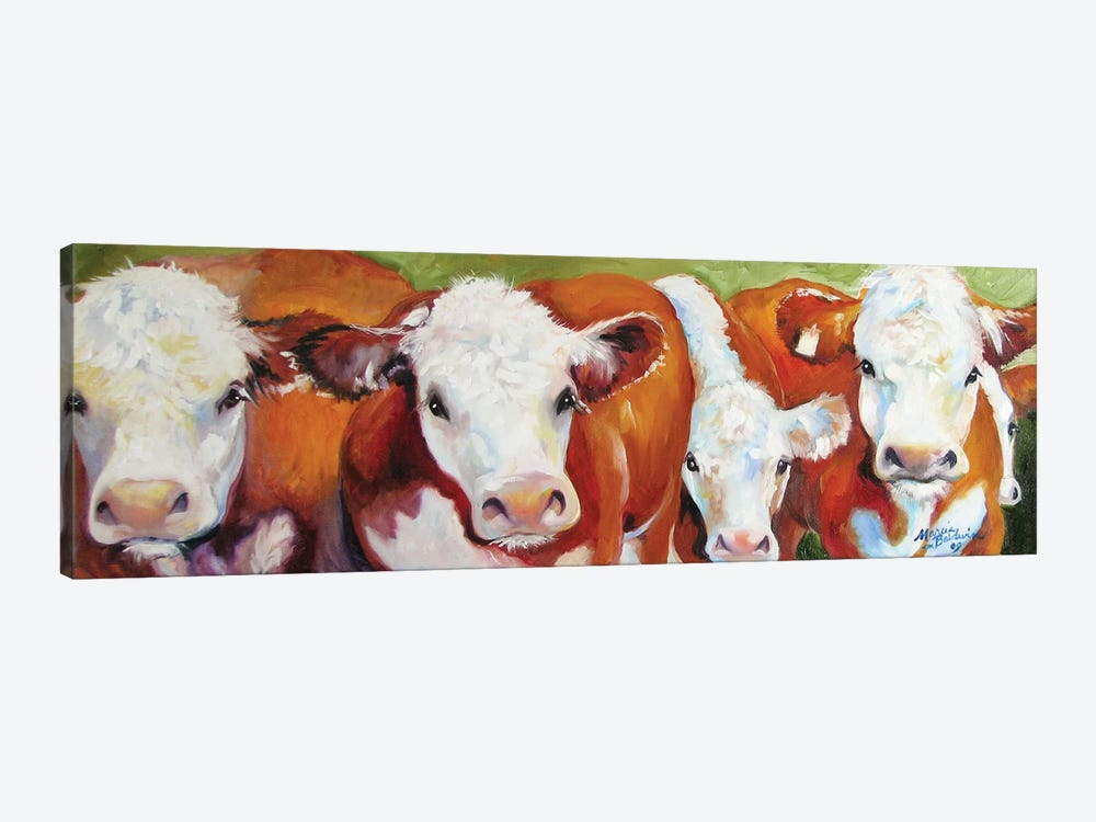 Fab Five Cows by Marcia Baldwin 1-piece Canvas Art