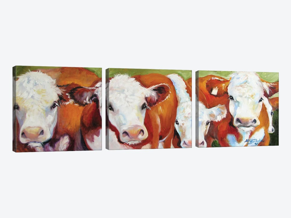 Fab Five Cows by Marcia Baldwin 3-piece Canvas Artwork