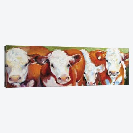 Fab Five Cows Canvas Print #BDN27} by Marcia Baldwin Canvas Print