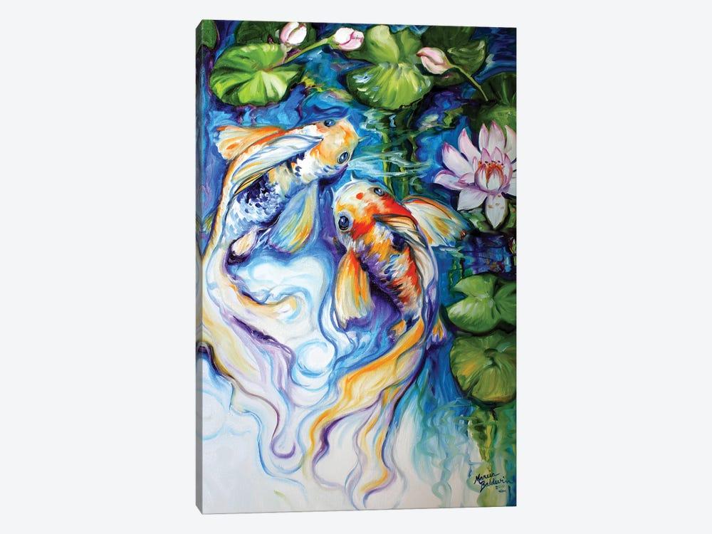 Koi Koi And Lily by Marcia Baldwin 1-piece Art Print