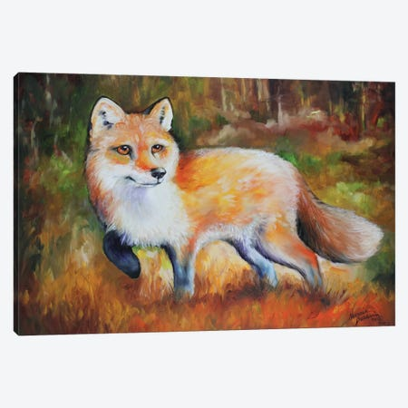 Little Red Fox Canvas Print #BDN38} by Marcia Baldwin Art Print