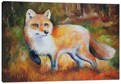 Little Red Fox Canvas Art Print