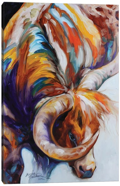 Longhorn Abstract by Marcia Baldwin Canvas Art Print