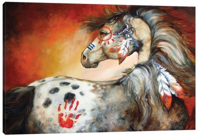 4 Feathers Indian War Pony Canvas Art Print