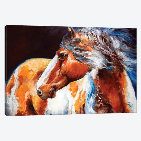 Mohican Indian War Horse Canvas Print #BDN41} by Marcia Baldwin Canvas Wall Art
