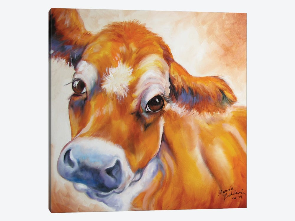 My Jersey Cow Commission by Marcia Baldwin 1-piece Canvas Print
