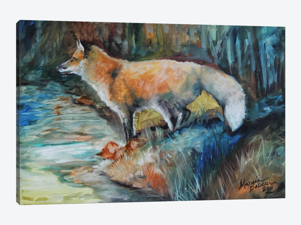 Red Fox II by Marcia Baldwin 1-piece Canvas Artwork