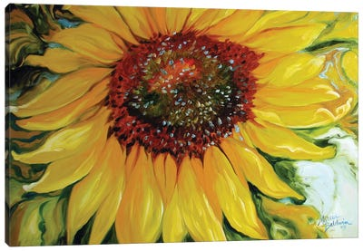 Sundown Sunflower Canvas Art Print