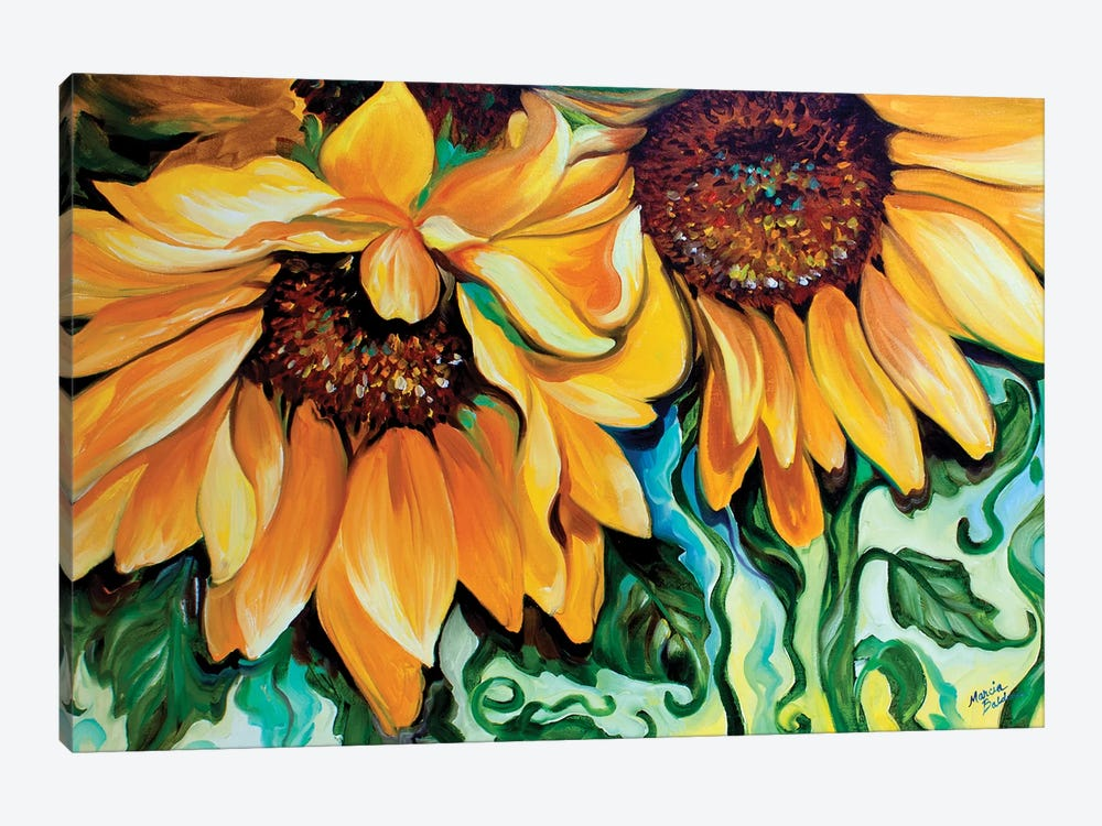 Sunflower Dance 1-piece Canvas Art