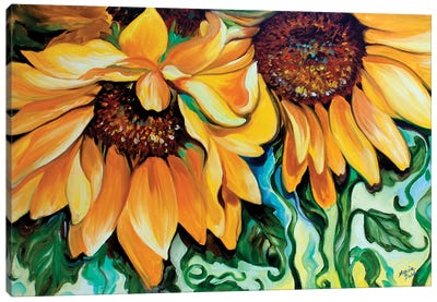 Sunflower Dance Canvas Art Print