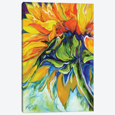 Sunflower In July Canvas Print #BDN57} by Marcia Baldwin Canvas Wall Art