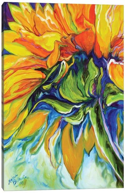 Sunflower In July Canvas Art Print