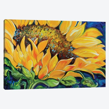 Sunflower September Canvas Print #BDN59} by Marcia Baldwin Canvas Print