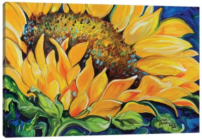 Sunflower September Canvas Art Print