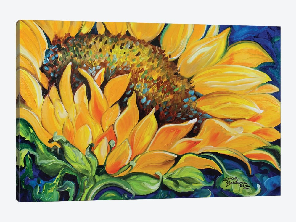 Sunflower September by Marcia Baldwin 1-piece Canvas Art Print