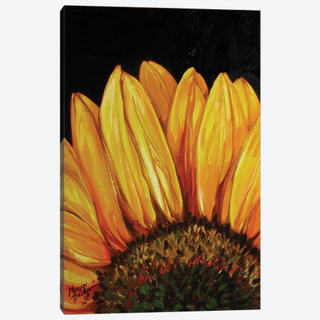 Sunflower Canvas Print #BDN60} by Marcia Baldwin Canvas Wall Art