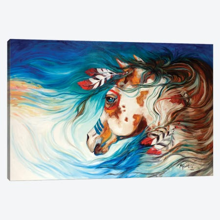 The Drifter Indian War Horse Canvas Print #BDN64} by Marcia Baldwin Canvas Print