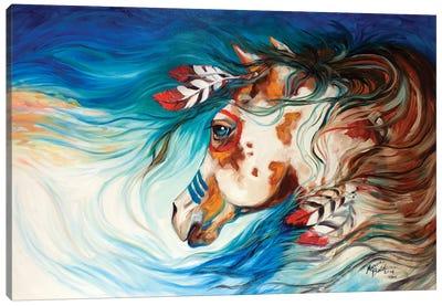 The Drifter Indian War Horse Canvas Art Print
