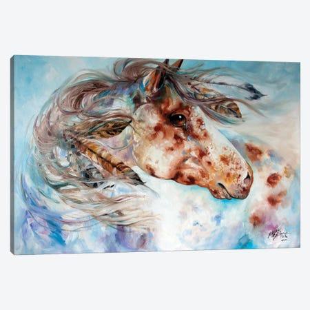 Thunder Appaloosa Indian War Horse Canvas Print #BDN65} by Marcia Baldwin Canvas Print