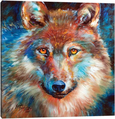 Timber Wolf Abstract Canvas Art Print