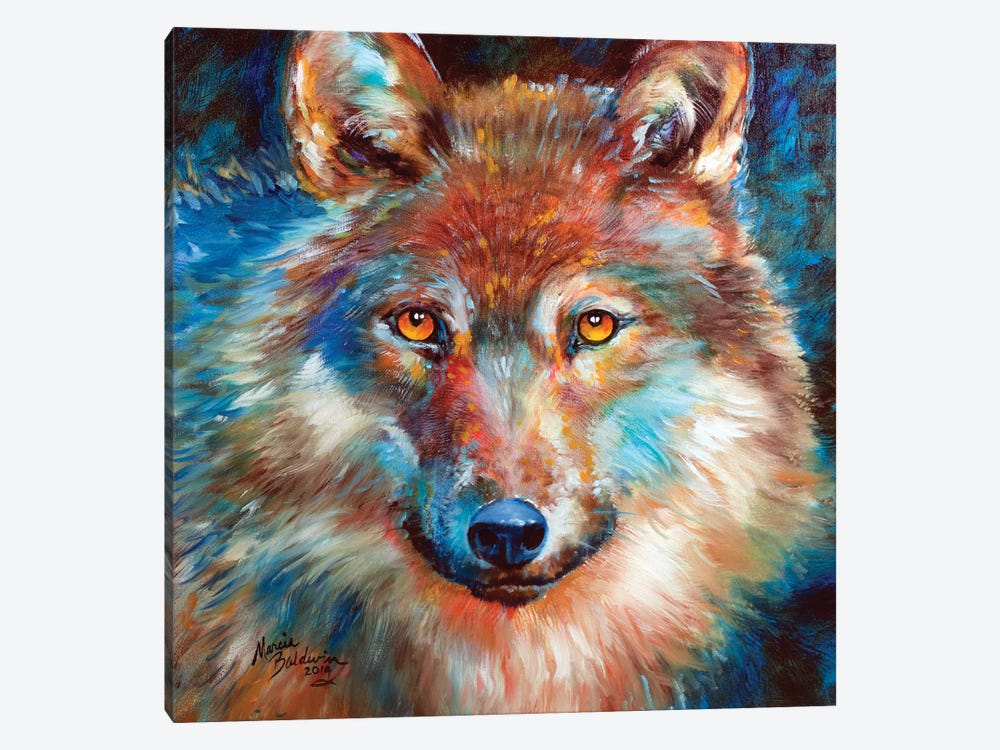 Timber Wolf Abstract by Marcia Baldwin 1-piece Canvas Art