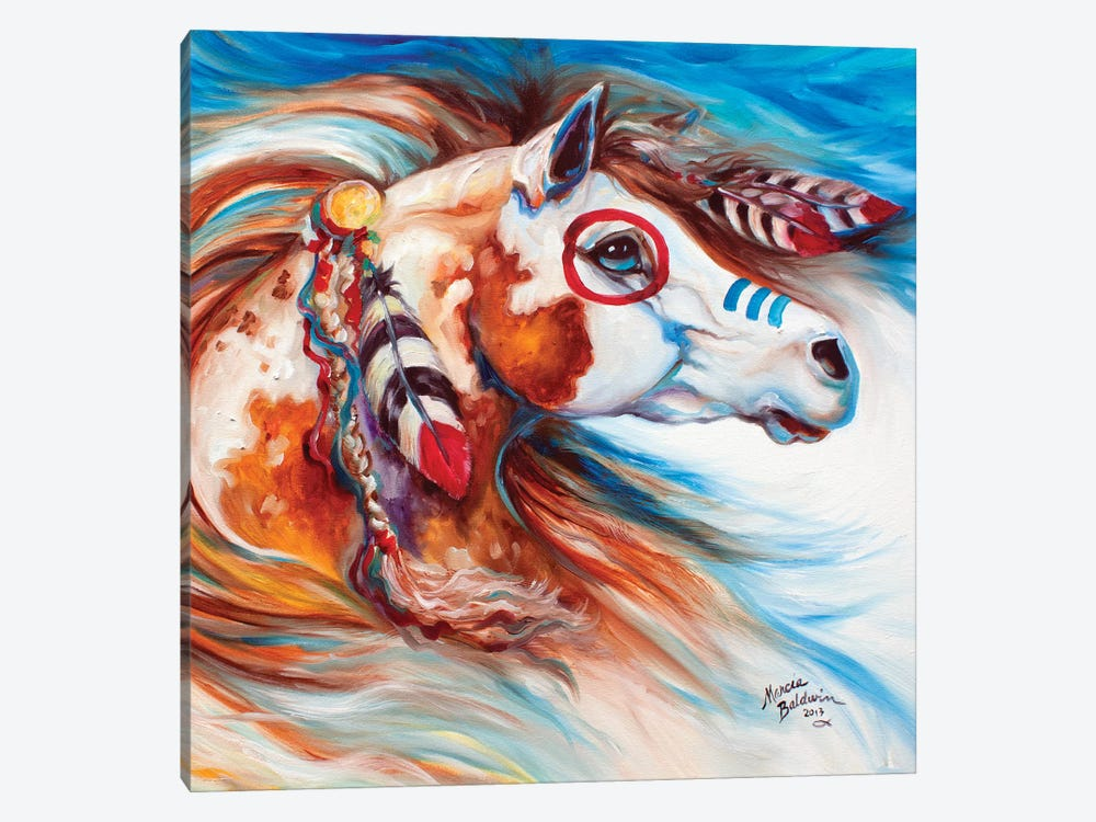 Wind Of Thunder Indian War Horse by Marcia Baldwin 1-piece Canvas Art