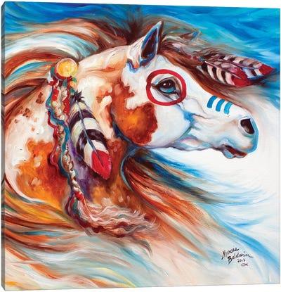 Wind Of Thunder Indian War Horse Canvas Art Print