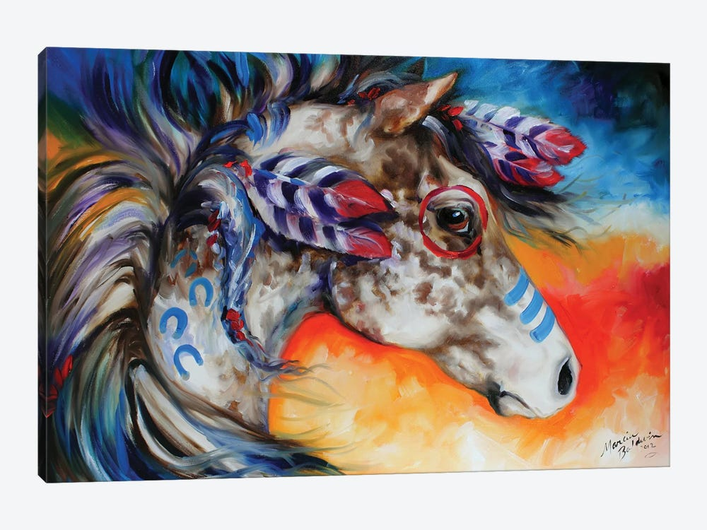 Appaloosa Indian War Horse by Marcia Baldwin 1-piece Art Print