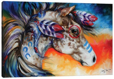 Appaloosa Indian War Horse Canvas Art Print